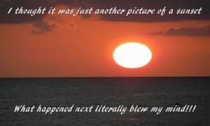 Sunset motivational poster
