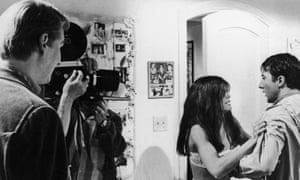 Mike Nichols with Katharine Ross and Dustin Hoffman on the set of The Graduate.