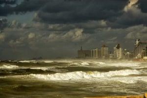 Storm over Tel Aviv