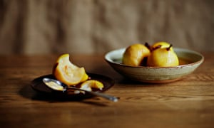 Simple is best … Sweet and spicy saffron-poached pears.