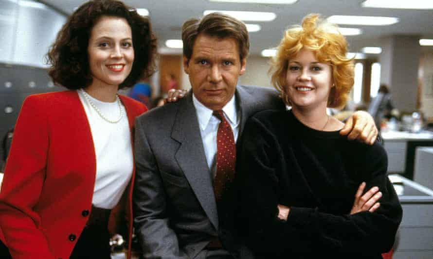 Weaver, Ford and Griffiths in Working Girl.