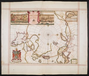 A map of the North Pole and parts adjoining, Moses Pitt, from The English Atlas (1680) – the personal atlas of King Charles II.