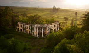"""A ruined college in Gali, near the """"border"""" with Georgia, where ethnic Georgians made up 96% of the region   s pre-war population. Most fled, or were driven out of their homes after the war. Today Gali is a twilight zone of empty buildings and overgrown farmland. amosab"""