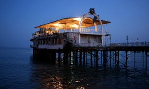 A pier in the centre of Sukhumi which survived the war and now hosts a small cafe