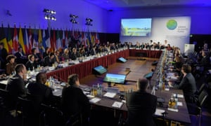 Members of the Green Climate Fund during the meeting in the Federal Ministry for Economic Cooperation and Development in Berlin, Germany, 20 November 2014.