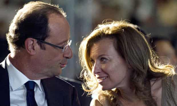 François Hollande with Valérie Trierweiler in 2012
