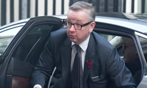 Conservative party chief whip Michael Gove arrives at Downing Street