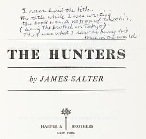notestoself: James Salter's The Hunters