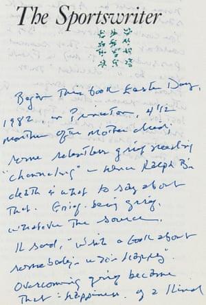 notestoself: Richard Ford's The Sportswriter (1986)