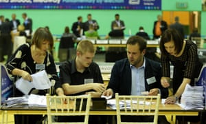 Counting taking place for the Rochester and Strood constituency byelection