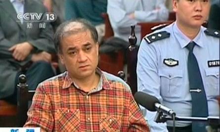 Uighur academic Ilham Tohti during his trial on separatism charges