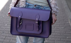 Cambridge Satchel, carried by Holly, photographed in Spitafields.