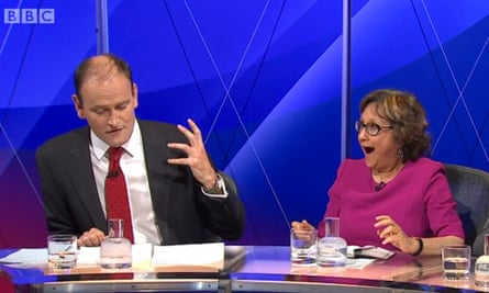 Douglas Carswell and Yasmin Alibhai-Brown in Question Time