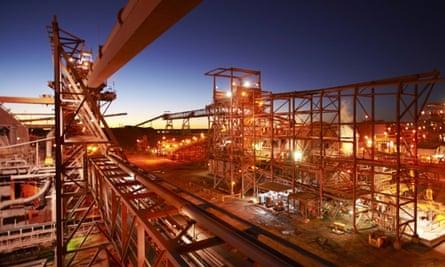 BHP Billiton processing plant near the Olympic Dam mine in South Australia.  Photo: BHP Billiton/AFP/Getty Images