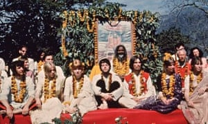 """The Beatles at the Rishikesh in India with the Maharishi Mahesh Yogi, March 1968. """