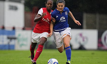 FA Women's Super League game between Arsenal Ladies and Everton Ladies