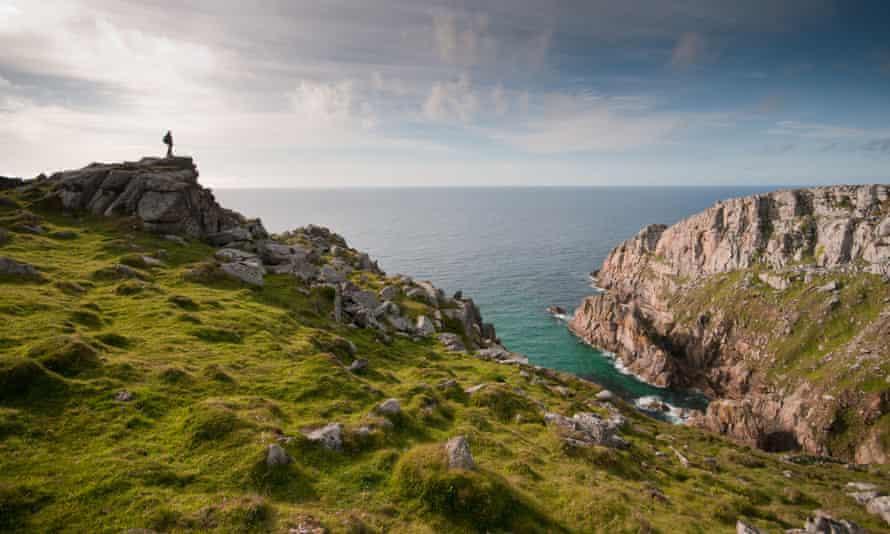 Coast path at Bosigran, West Penwith, Cornwall