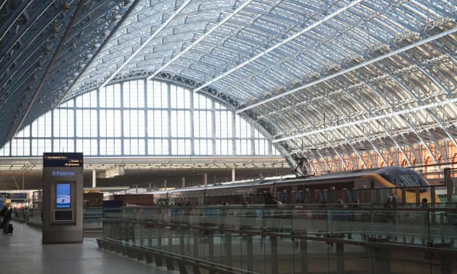 The Eurostar at St Pancras station.