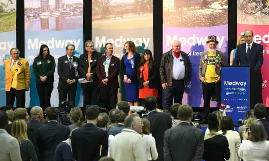 Ukip candidate Mark Reckless makes a speech after being elected MP for Rochester and Strood.