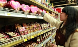 Chocolate shopper in China