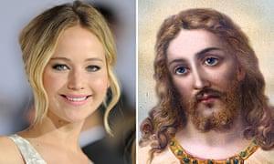 Composite of Jennifer Lawrence and Jesus