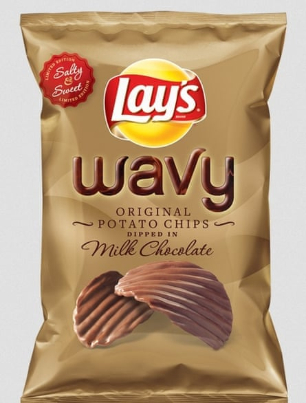 The US company Lay's has a line of potato crisps dipped in chocolate.