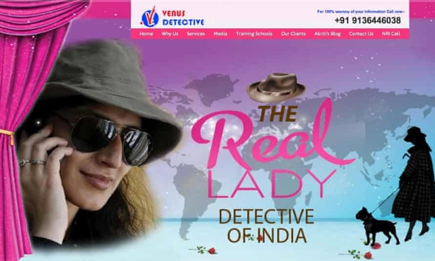 Female touch ... the Venus Detective Agency website