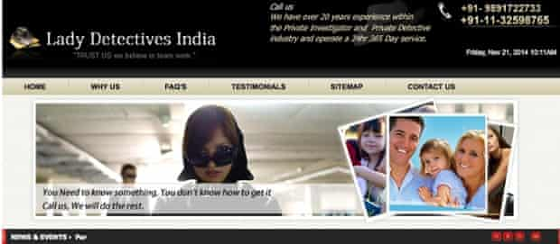 Lady Detectives India website
