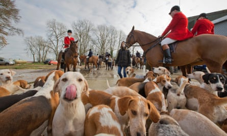 'Hunting is completely different now' … riders about to set off on the Cotswold hunt