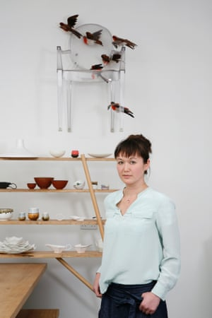 Reiko Kaneko moved from London to Stoke to be near the Longton company that makes her porcelain wares.