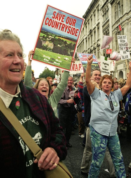 'The hunting community was determined not to give up'  … A 2003 Countryside Alliance protest in London.