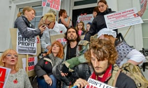Russell Brand joins the protest to save social housing at the New Era estate