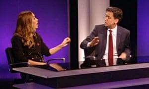 Myleene Klass tells Ed Miliband what she thinks of his mansion tax on TV programme The Agenda