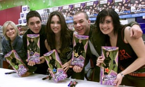 Myleene Klass (centre) with the pop group Hear'Say in 2001.