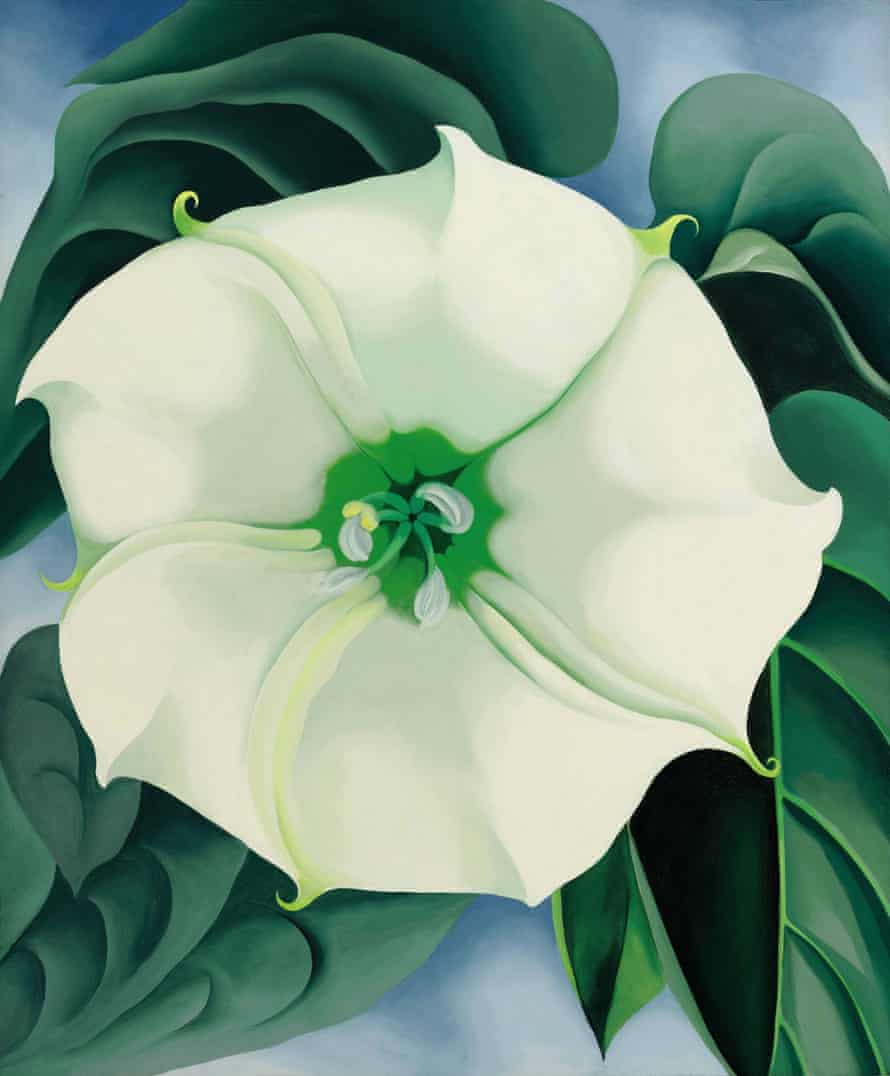 Georgia O'Keeffe's 1932 painting Jimson Weed/White Flower No. 1, which has sold for $44.4m