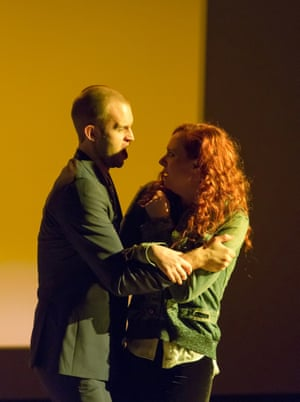 Ashley Riches as Michael with Sky Ingram as Lea in Glare.