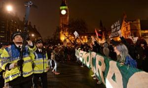 Occupy activists in Parliament Square