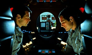 Gary Lockwood and Keir Dullea try to escape the attentions of the ship's computer Hal in 2001: A Spa