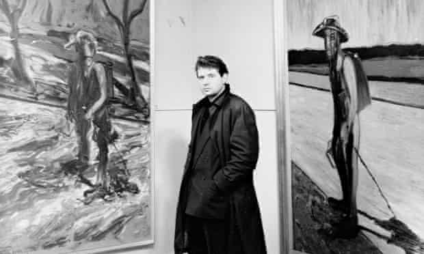 Painter Francis Bacon With His Work 1957.