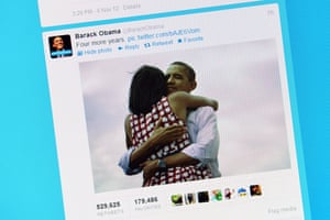 Barack Obama's tweet on November 7, 2012 in Rome after his re-election as US president