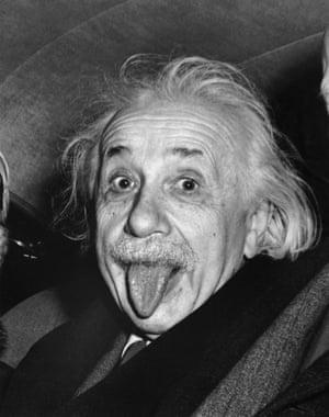 Einstein photographed on his 72nd birthday, March 14, 1951