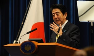Japan shinzo abe announces election