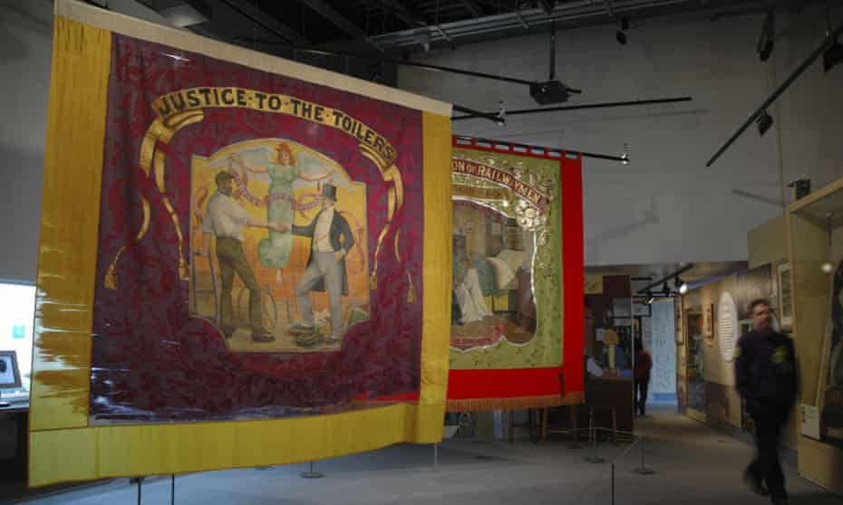 An exhibit at the People's History Museum, in Manchester