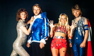 Abba in their stage outfits in 1974