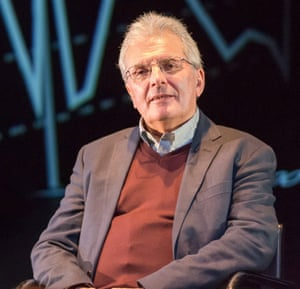 Chris Rapley, on stage at the Royal Court in the play 2071.