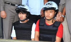 Zaw Lin and Wai Phyo, the two Burmese migrant workers arrested for the murders of Witheridge and Miller.