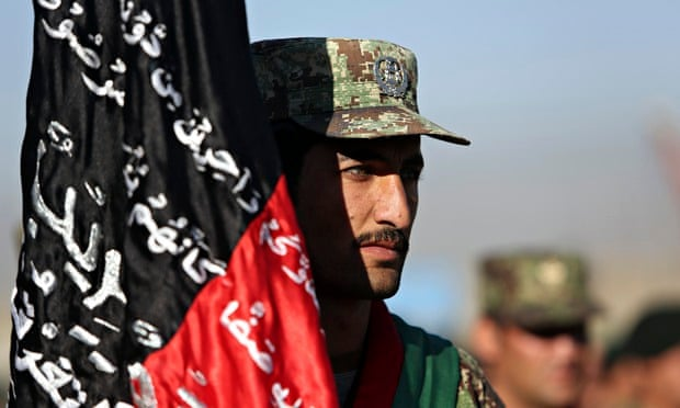 Afghan National Army recruits in Kabul. The Taliban has stepped up attacks