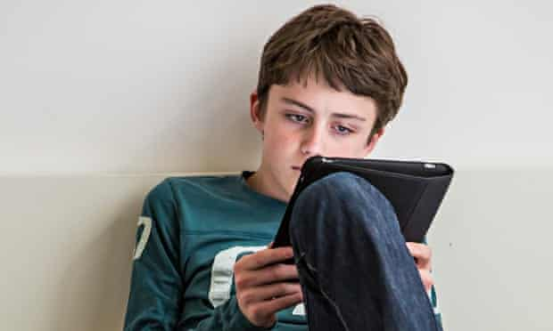 Teenagers with tablet