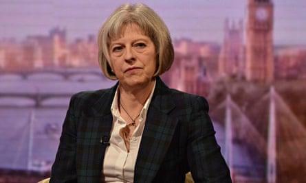 Theresa May terrorism act