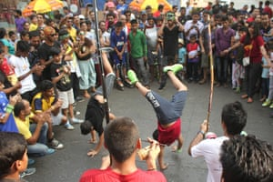A capoeira session at Sunday's Mumbai Equal Streets event.